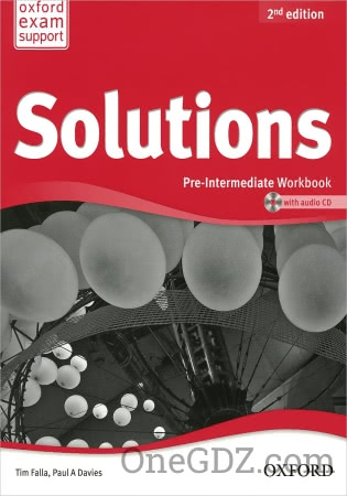 ГДЗ Solutions Pre-Intermediate Workbook (2nd edition Ukraine)