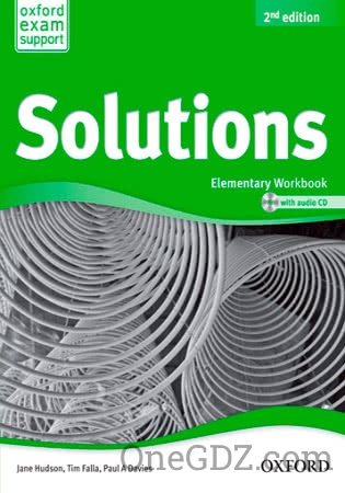 ГДЗ Solutions Elementary Workbook (2nd edition) answer key